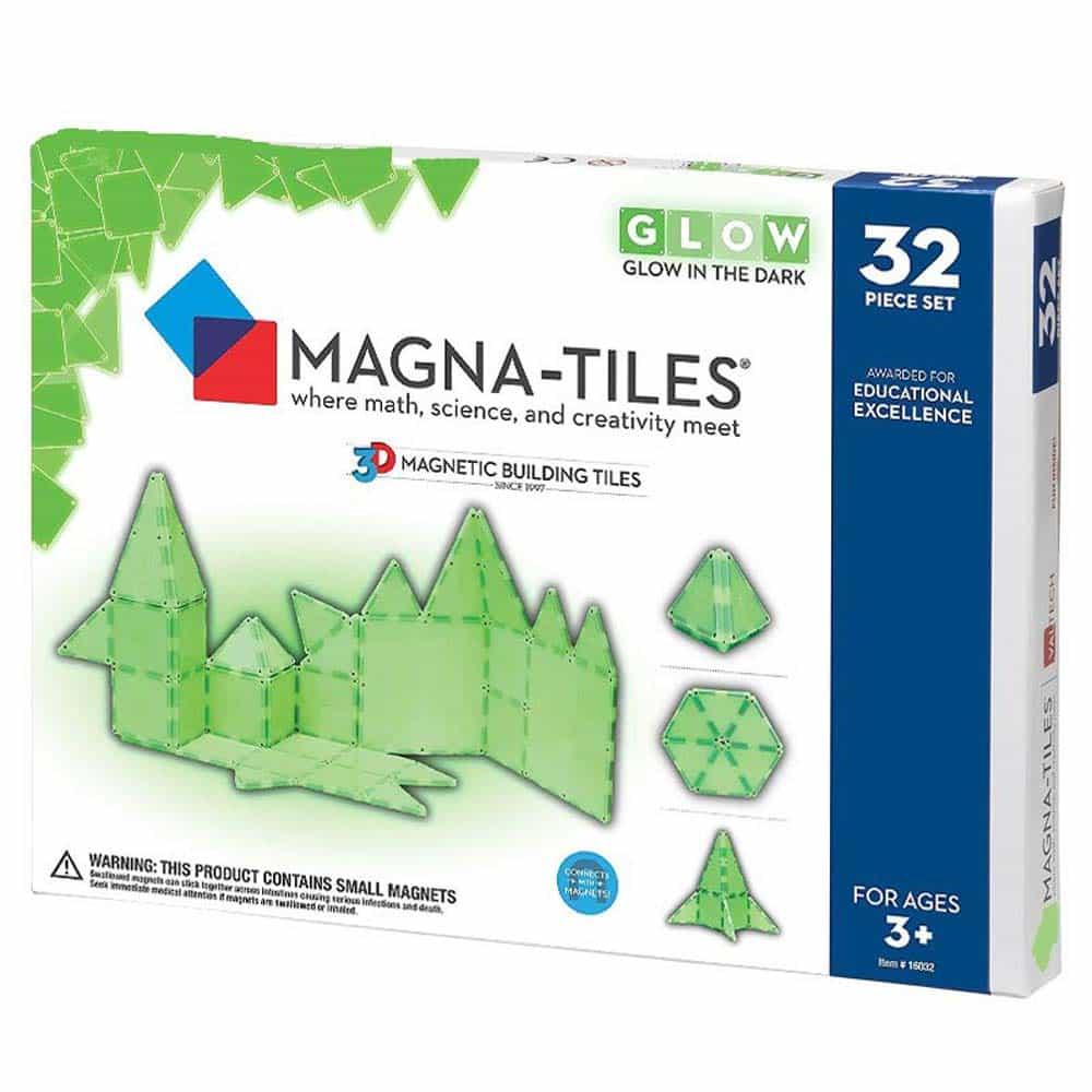 Magna-Tiles GLOW fosforescent joc magnetic 32 piese - set magnetic 3D