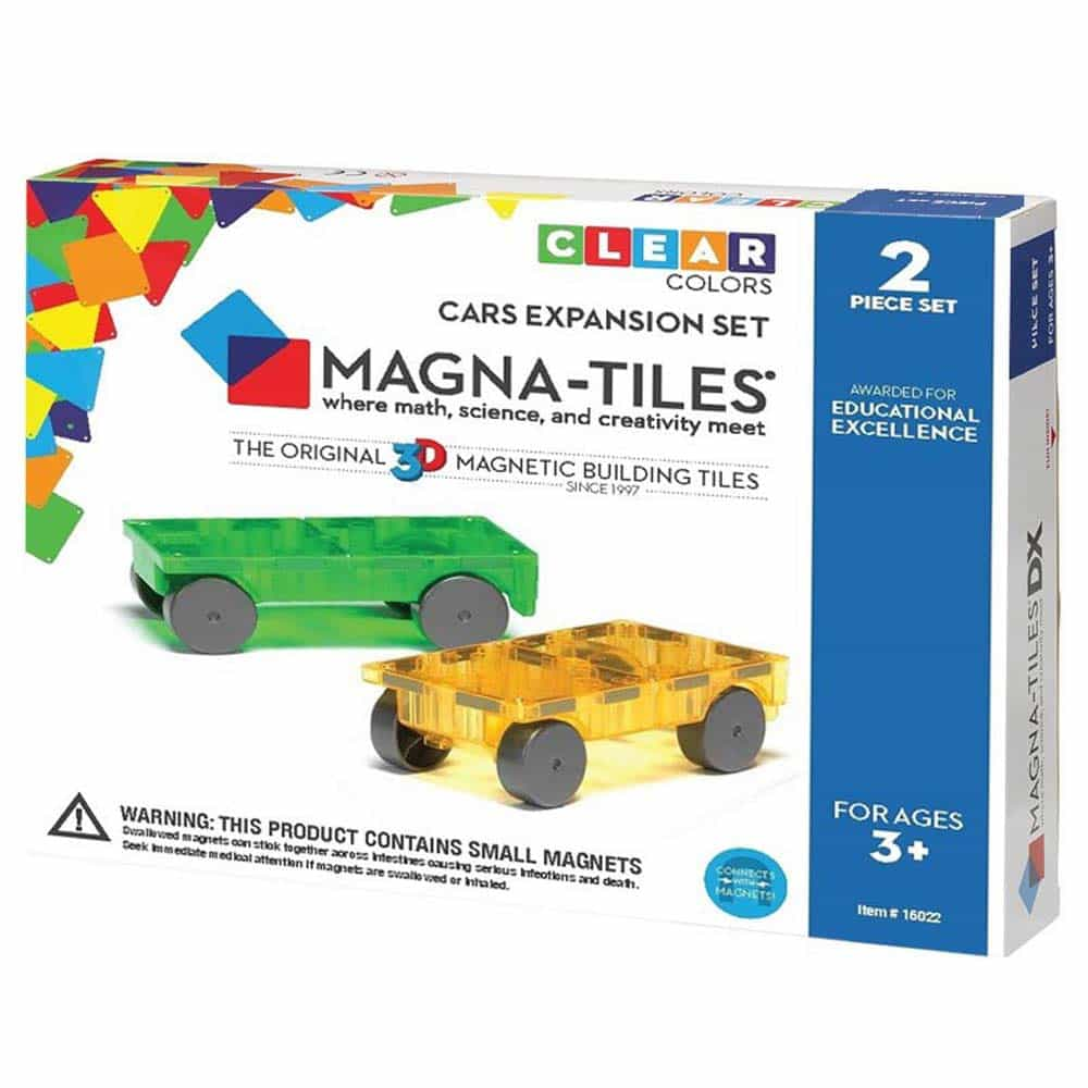Magna-Tiles Extensie 2 mașinuțe magnetice - set magnetic 3D