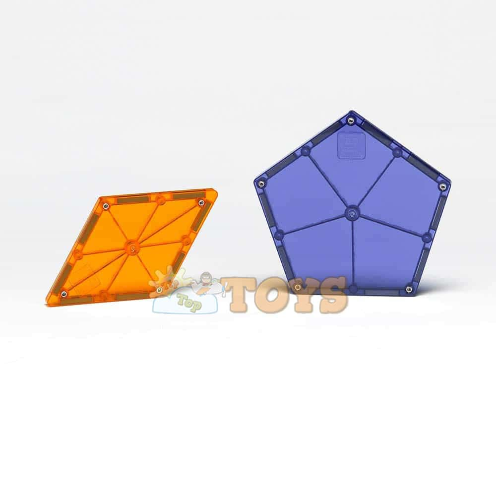 Magna-Tiles Extensie Poligoane joc magnetic 8 piese - set magnetic 3D