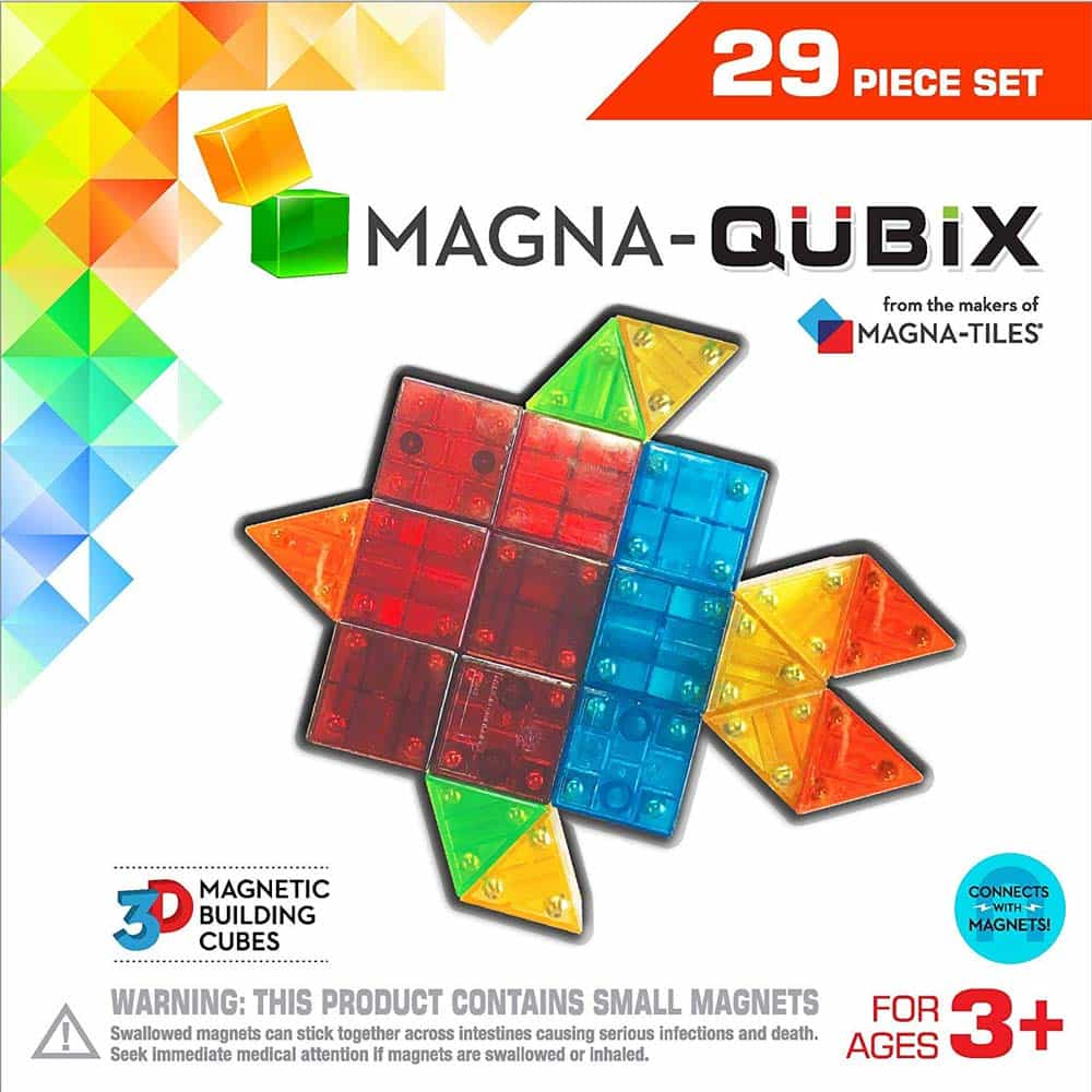 Magna-Tiles Magna-Qubix joc magnetic 29 piese - set magnetic 3D