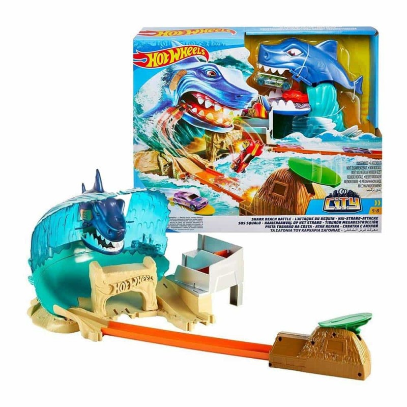 Hot Wheels City Set de joacă Bătălia rechinului FNB21 Shark beach battle
