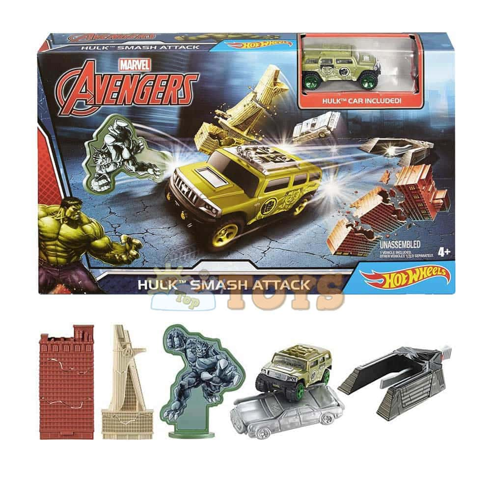 Hot Wheels Pistă Hulk Smash Attack Marvel Avengers DKT29 Mattel