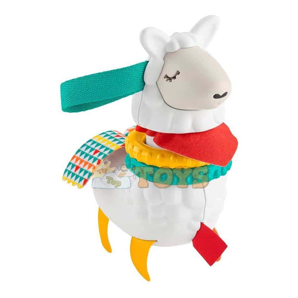 Fisher-Price Jucărie zornăitoare pentru copii Lamă multicolor FXC20