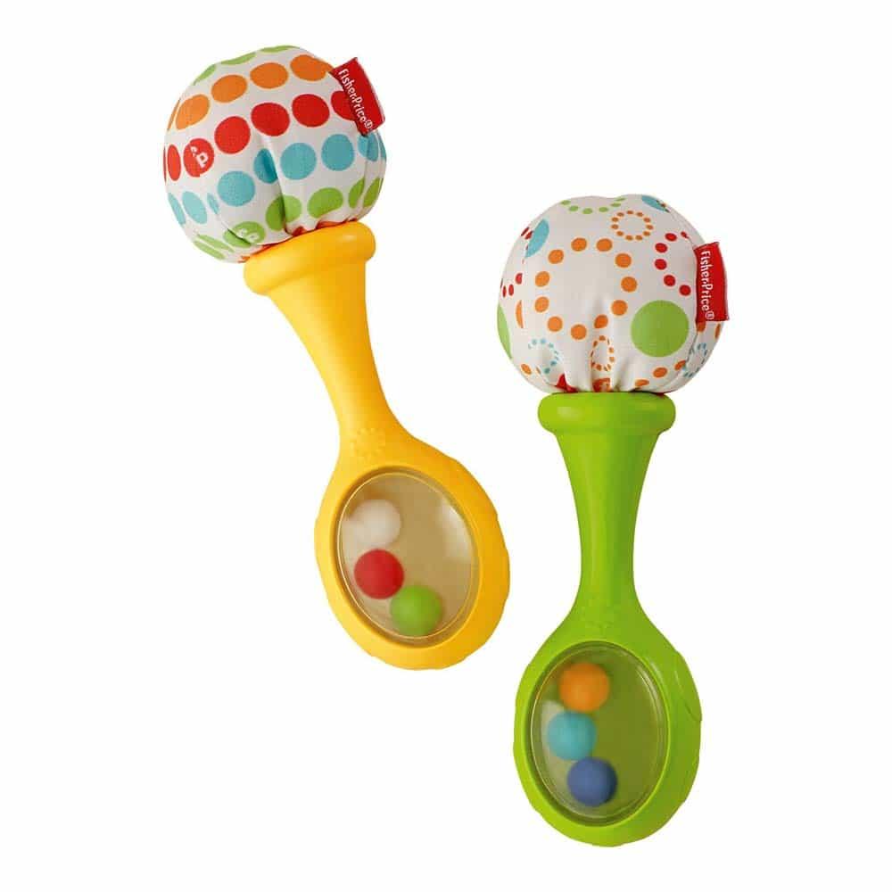 Fisher-Price Jucărie zorăitoare pentru bebeluși Zola Maracas BLT33
