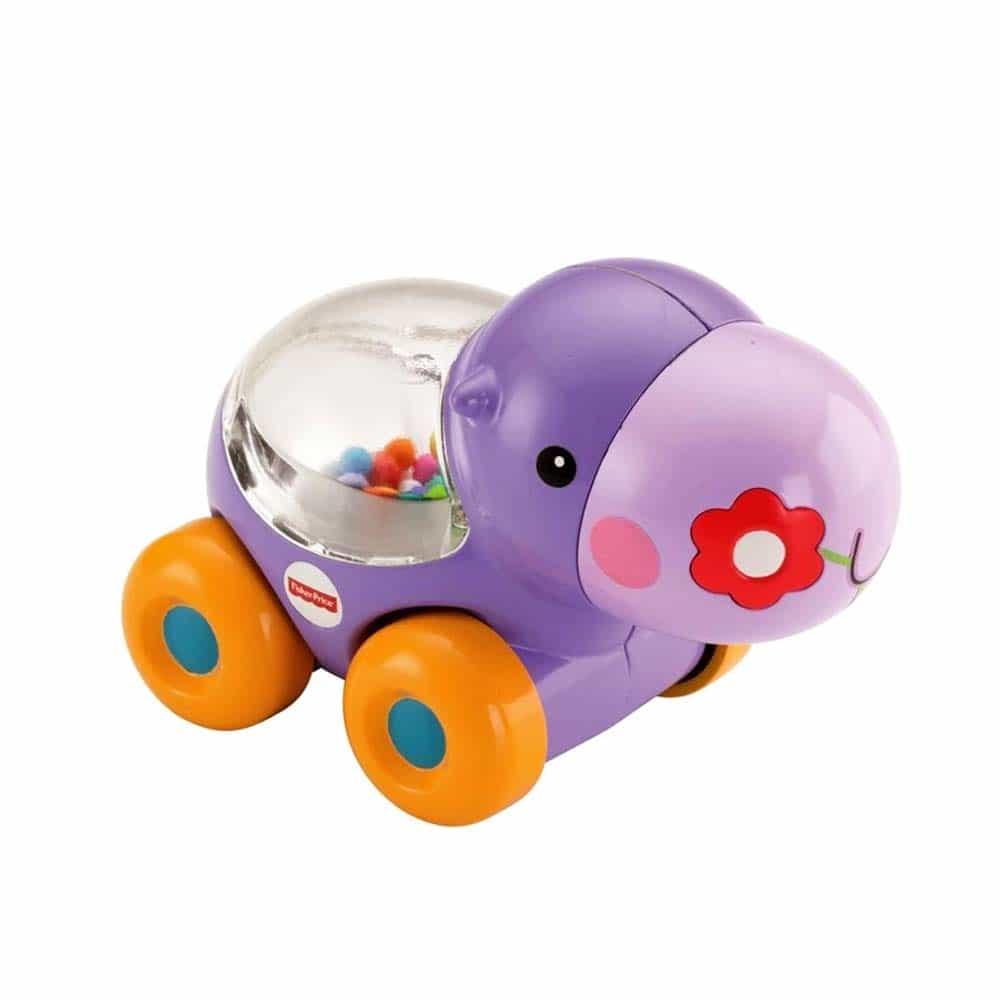 Fisher-Price Jucărie interactivă de împins Poppity hipopotam BGX30