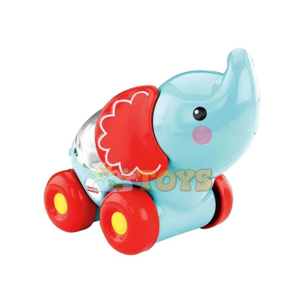 Fisher-Price Jucărie interactivă de împins Poppity Pop elefant CMV98