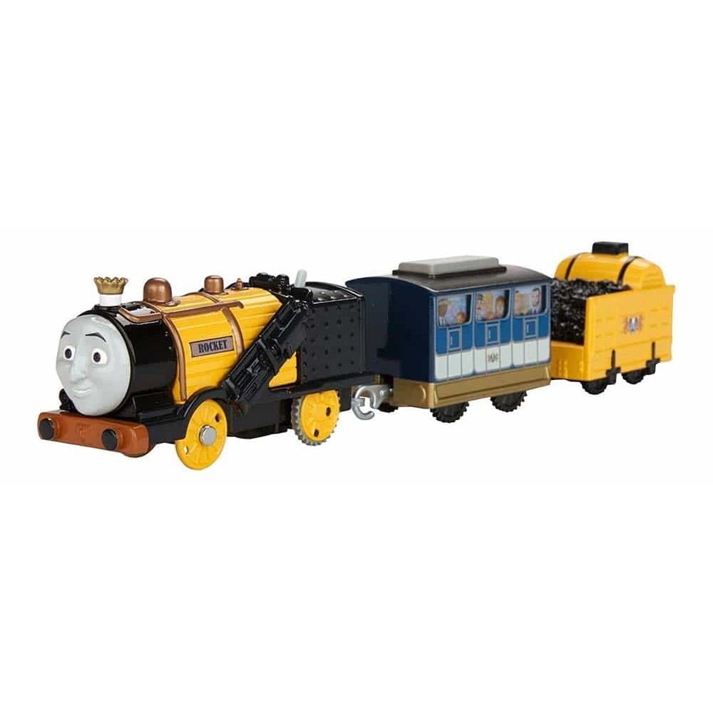 Locomotivă motorizată Thomas și prietenii Stephen cu 2 vagoane FJK54