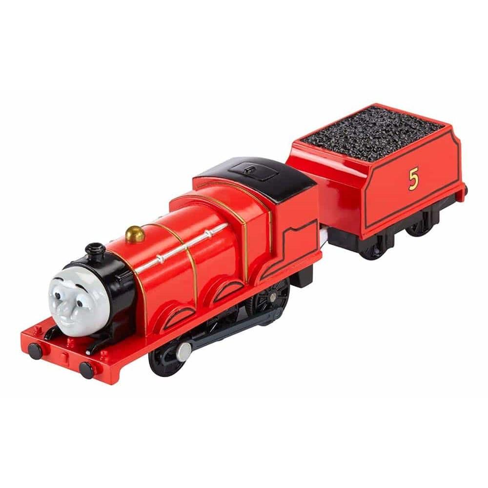 Locomotivă motorizată Thomas și prietenii James cu vagon BML08