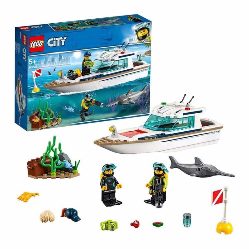 LEGO® City Iaht pentru scufundări 60221 - 148 piese