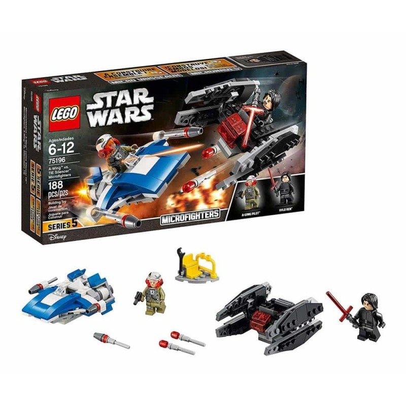 LEGO® Star Wars A-Wing Contra TIE Silencer Microfighters 75196