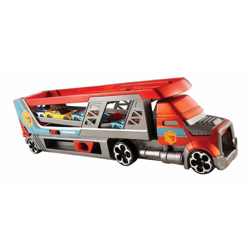 Hot Wheels Set de joacă Camion transport mașini cu lansator CDJ19