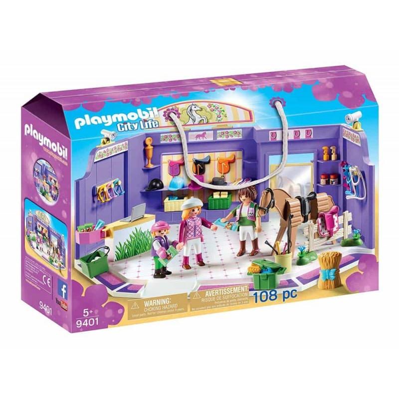 Playmobil Magazin de echitație 9401 Magazin de accesorii pentru căluți