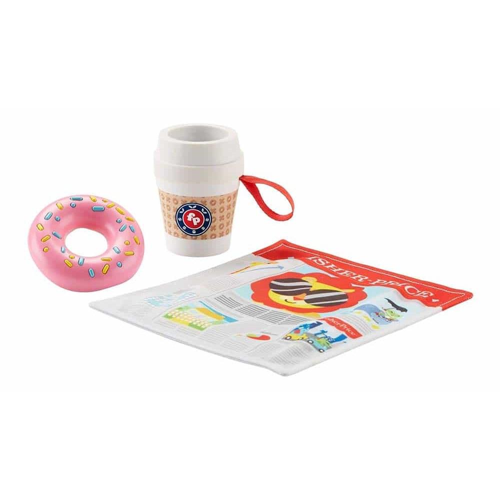 Fisher-Price Jucărie pentru dentiție și zornăitoare Cafea cu gogoașă