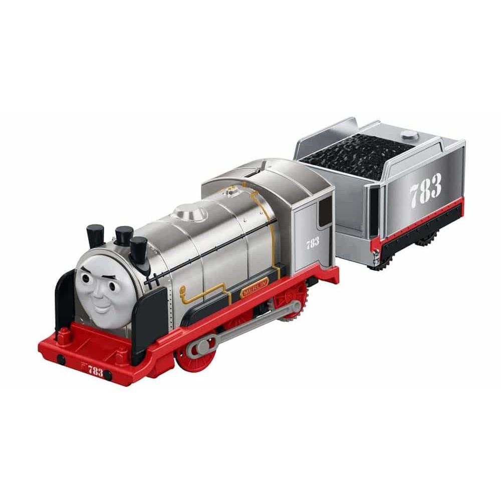 Locomotivă motorizată Thomas și prietenii Merlin cu vagon FJK58