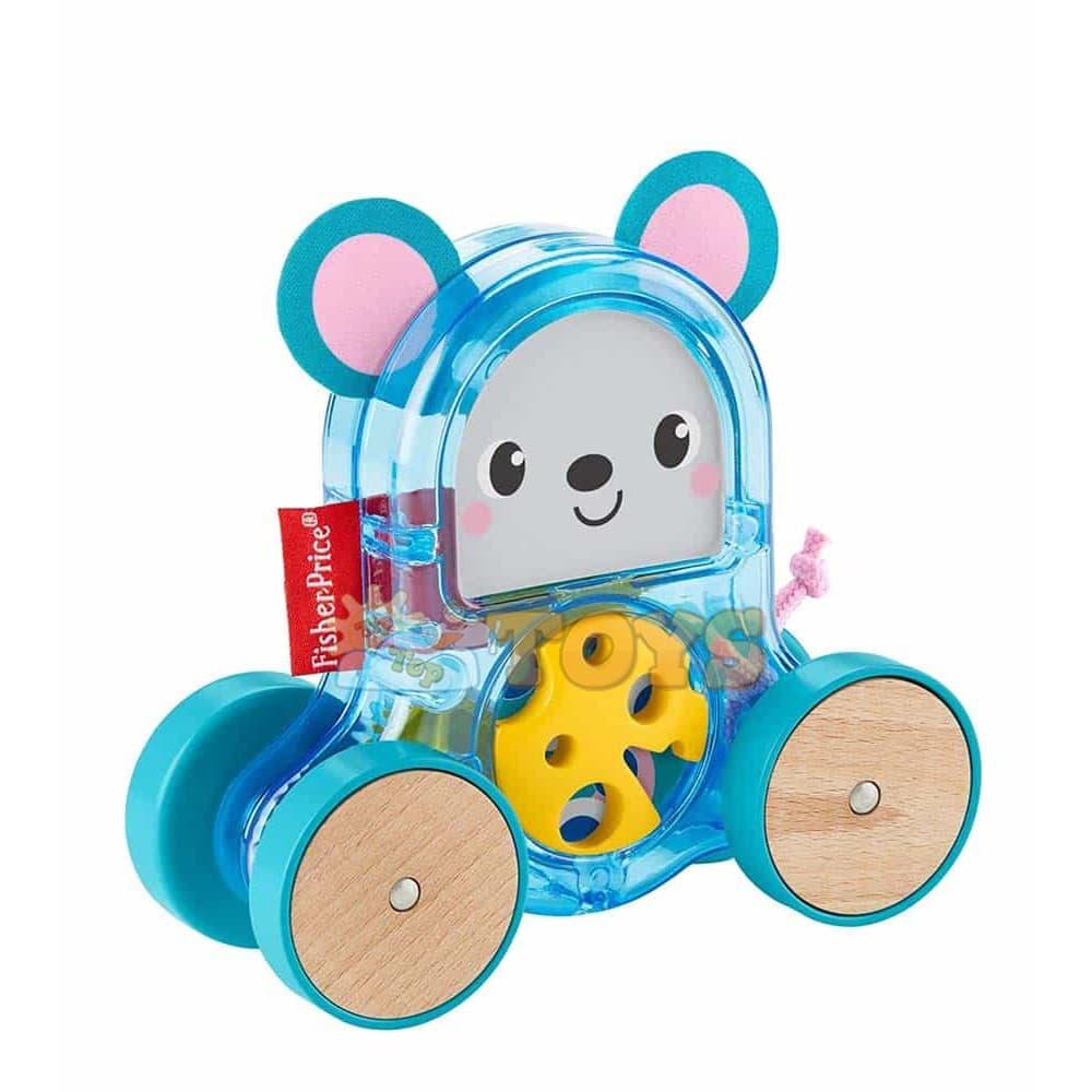 Fisher-Price Jucărie de împins zornăitoare Figurină șoarece GLD02
