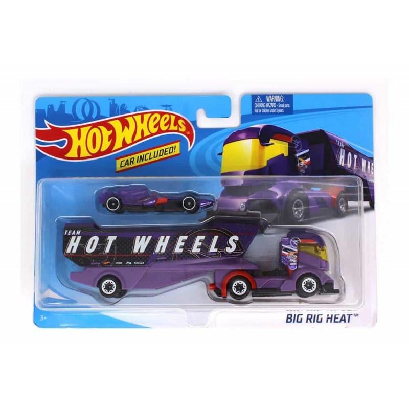 Hot Wheels Set de joacă Camion și mașinuță Big Rig Heat FKW91