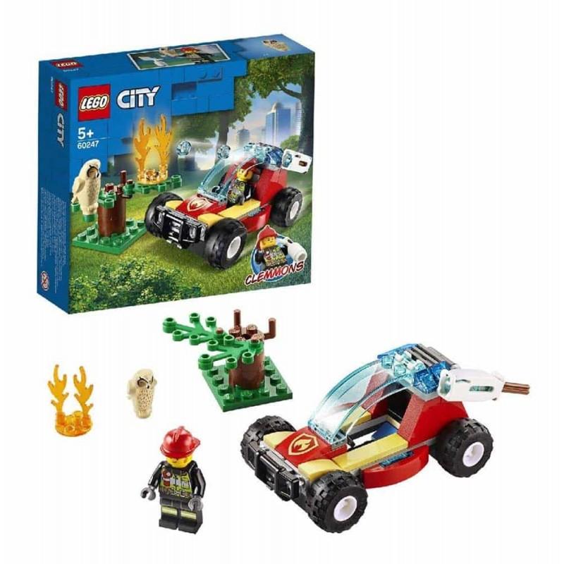 LEGO® City Fire - Incendiu de pădure 60247 - 84 piese