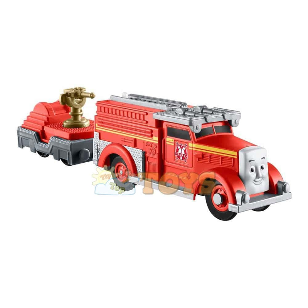 Thomas și prietenii Locomotivă motorizată Fiery Flynn cu vagon DFM81