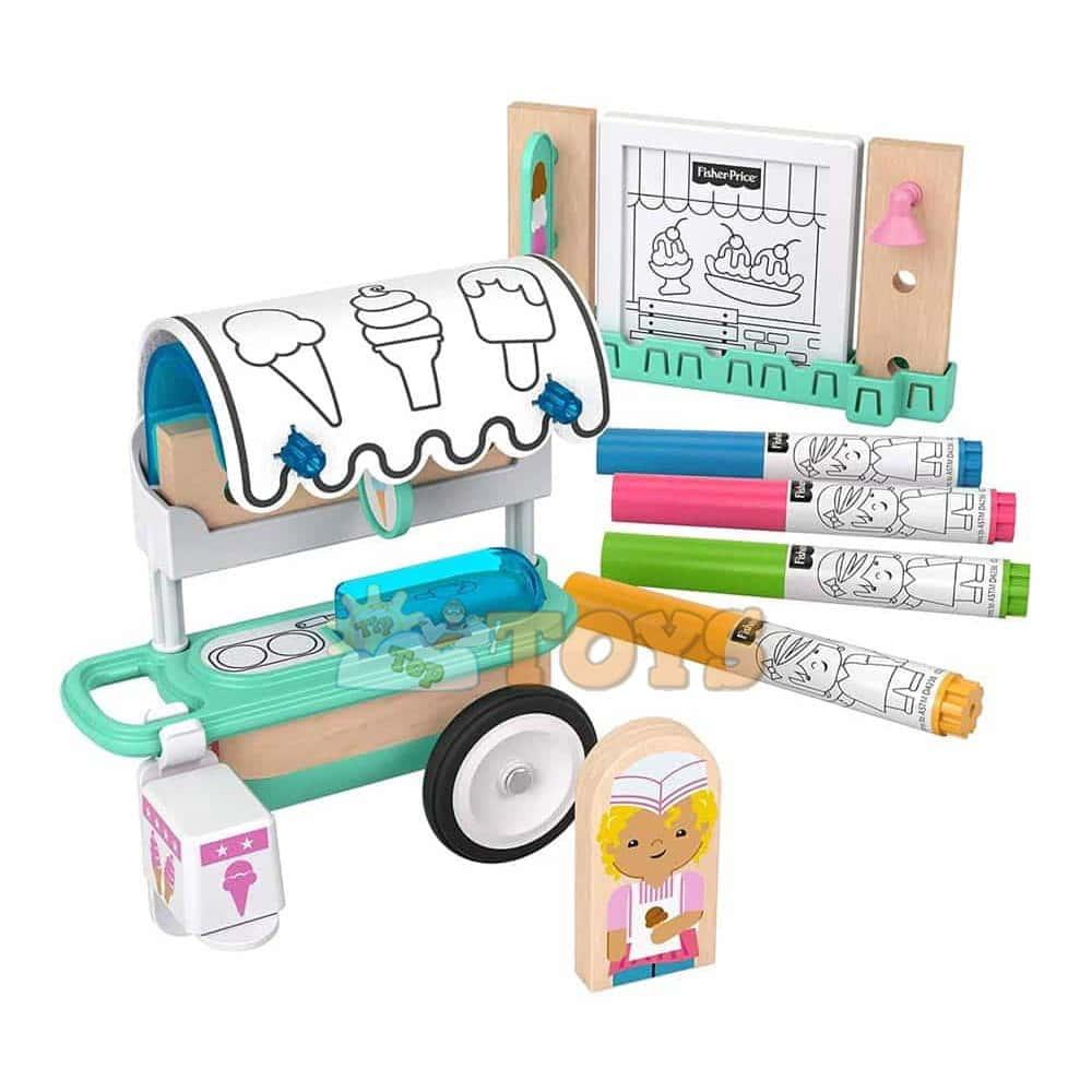 Fisher-Price Wonder Makers Set de joacă Cărucior de înghețată GLY26