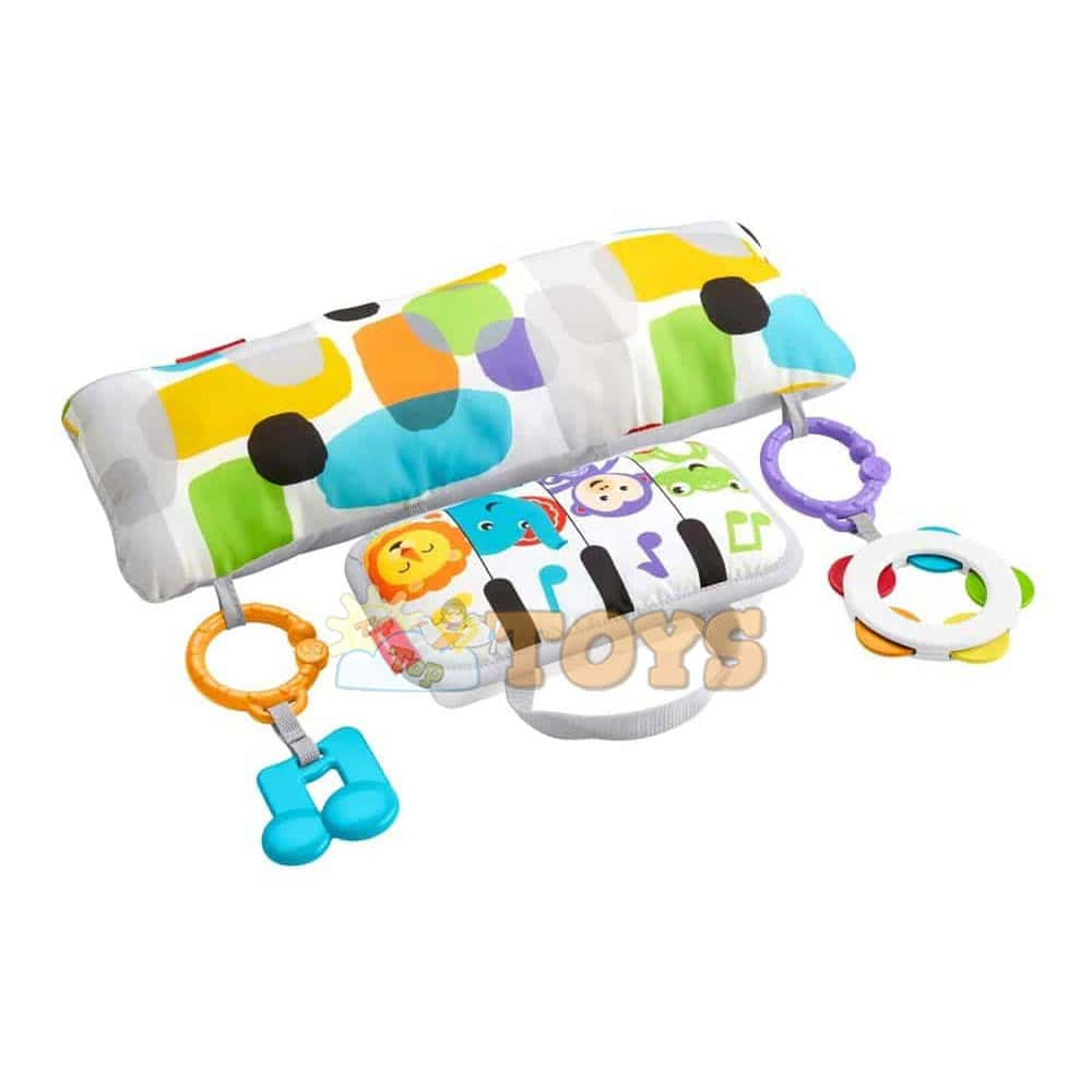 Fisher-Price Jucărie interactivă Pian muzical cu jucării și pernă GJD27