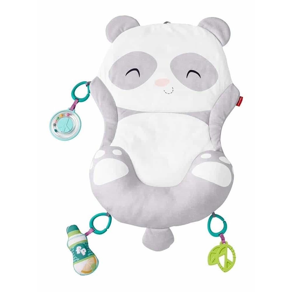 Fisher-Price Jucărie interactivă Ursulețul Panda cu jucării și pernă GJD28