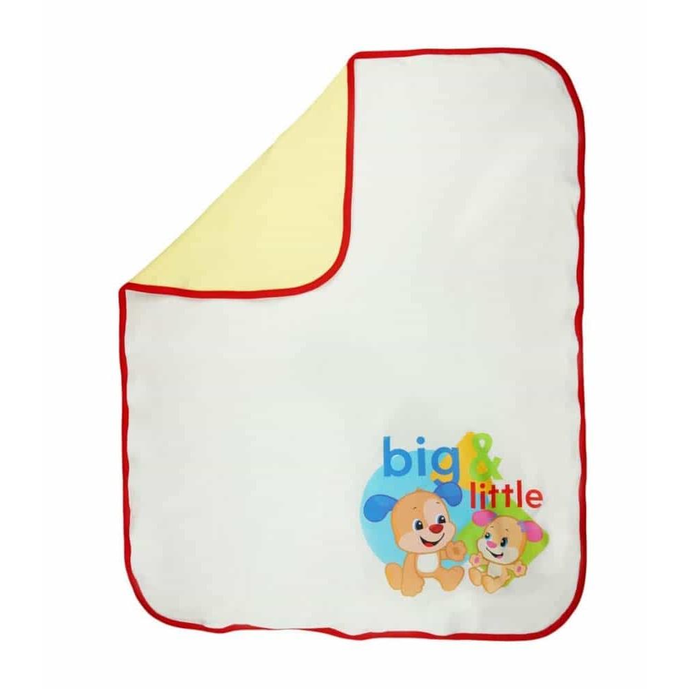 Fisher-Price Pătură bebeluși Big & Little 90x70 cm alb cu roșu