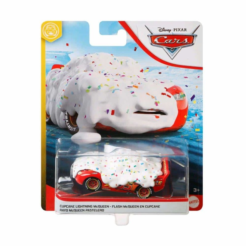 Cars 3 Mașinuță metalică Cars Fulger McQueen Cupcake GKB29 Mattel