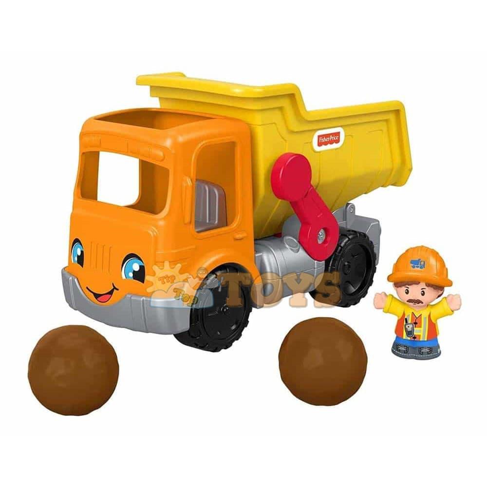 Fisher-Price Little People Jucărie camion Basculabil cu figurină GKR56