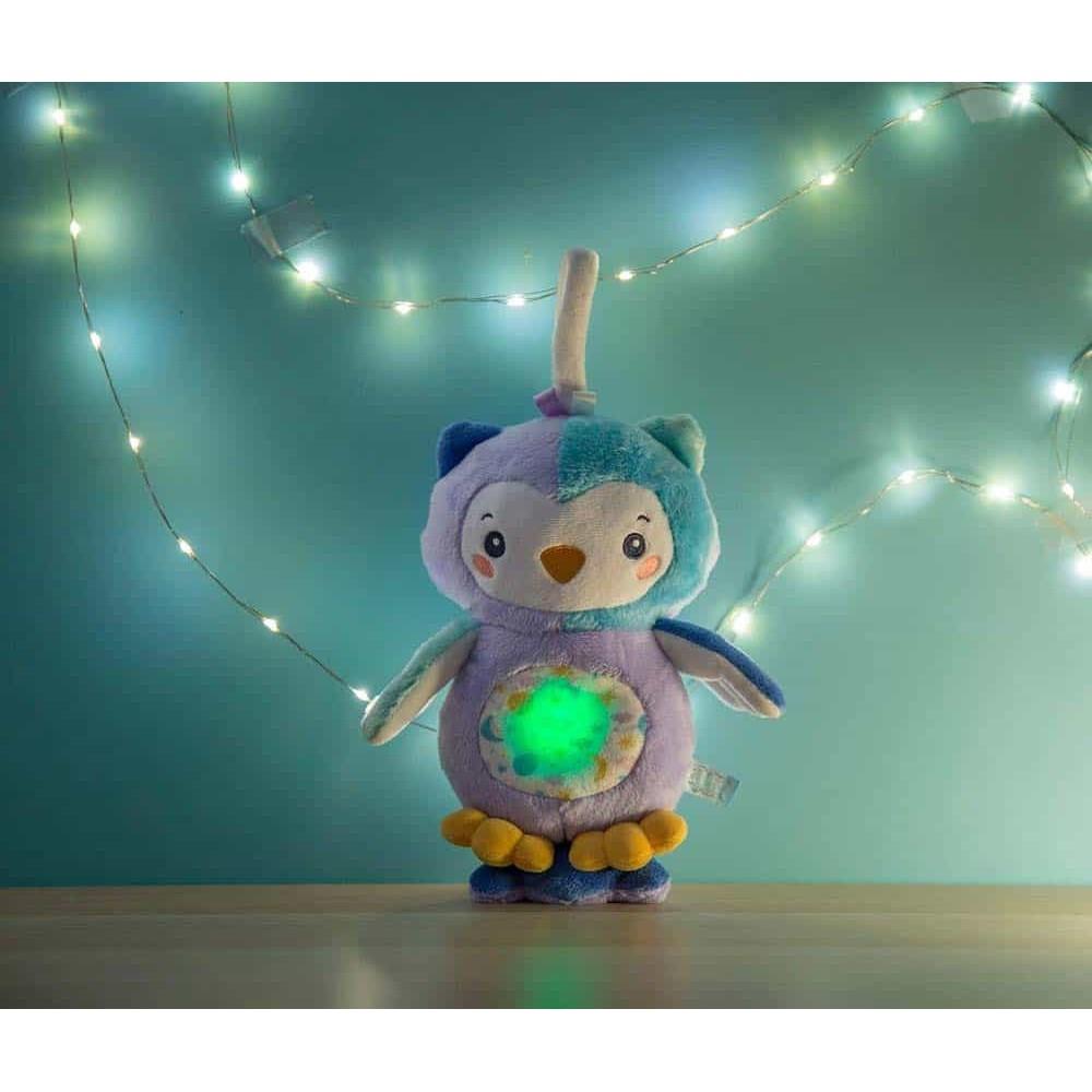 Clementoni Baby Jucărie pluș Bufniță cu lumini și sunete 17268