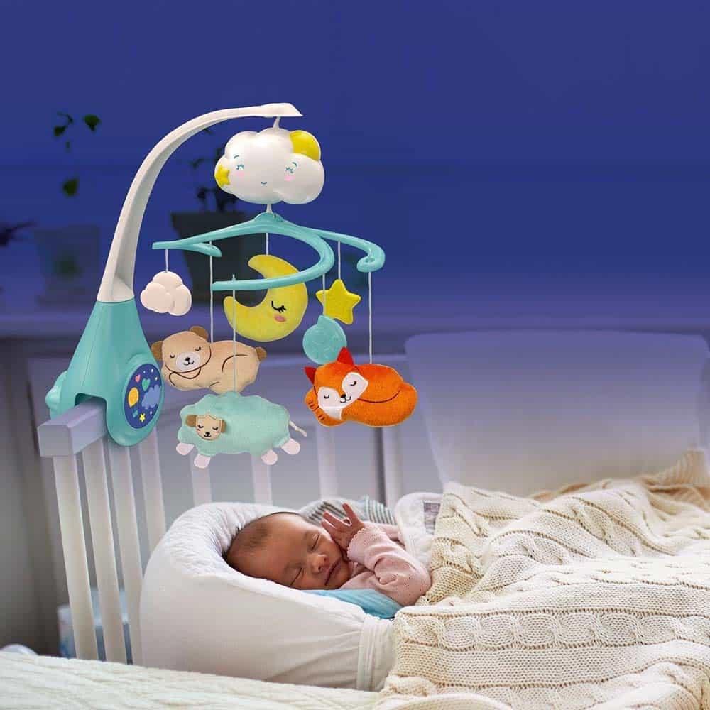 Clementoni Baby Carusel muzical multifuncționa cu lumini 17279