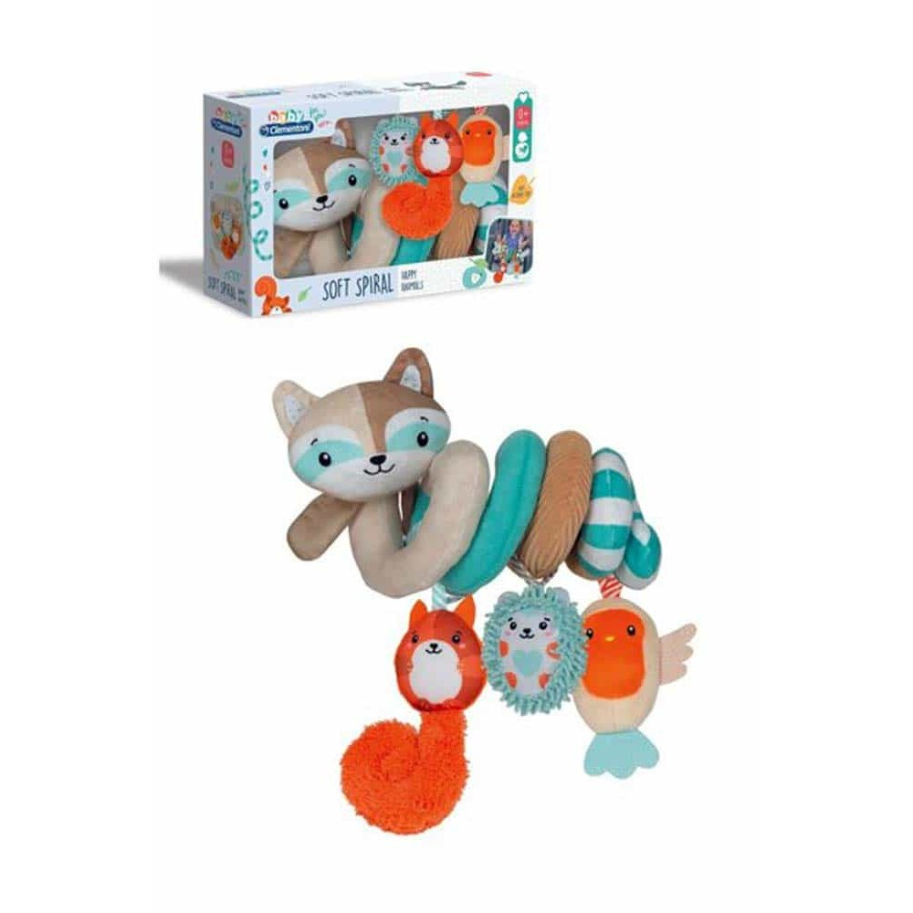Clementoni Baby Jucărie pluș spirală Animăluțe fericite cu Vulpe 17320