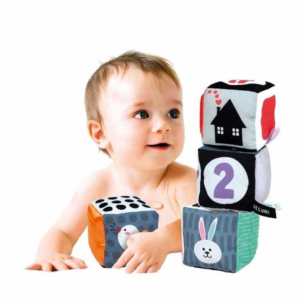 Clementoni Baby Cub moale pentru bebeluși Black & White 17321