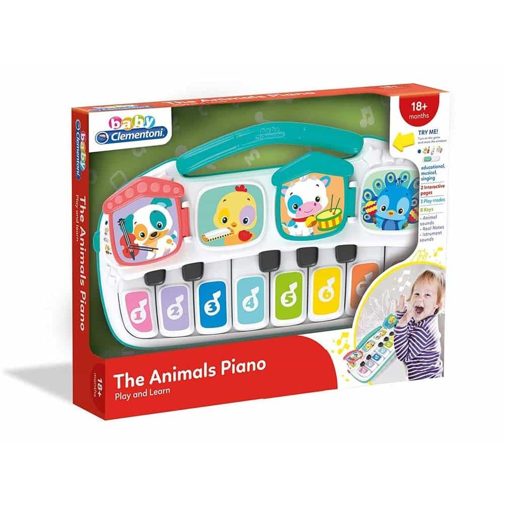 Clementoni Baby Jucărie interactivă Pianul cu animale 17334 - Orgă