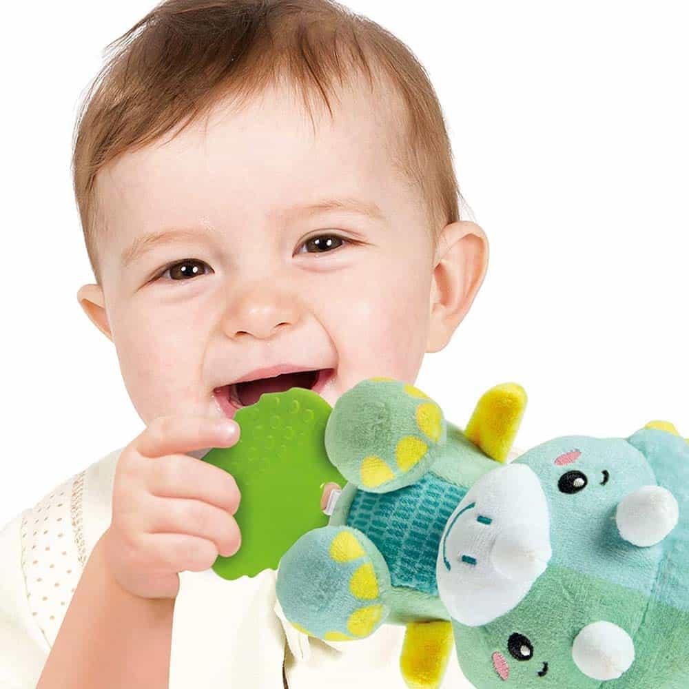 Clementoni Baby Jucărie pluș zornăitoare pentru dentiție Dinozaur 17353