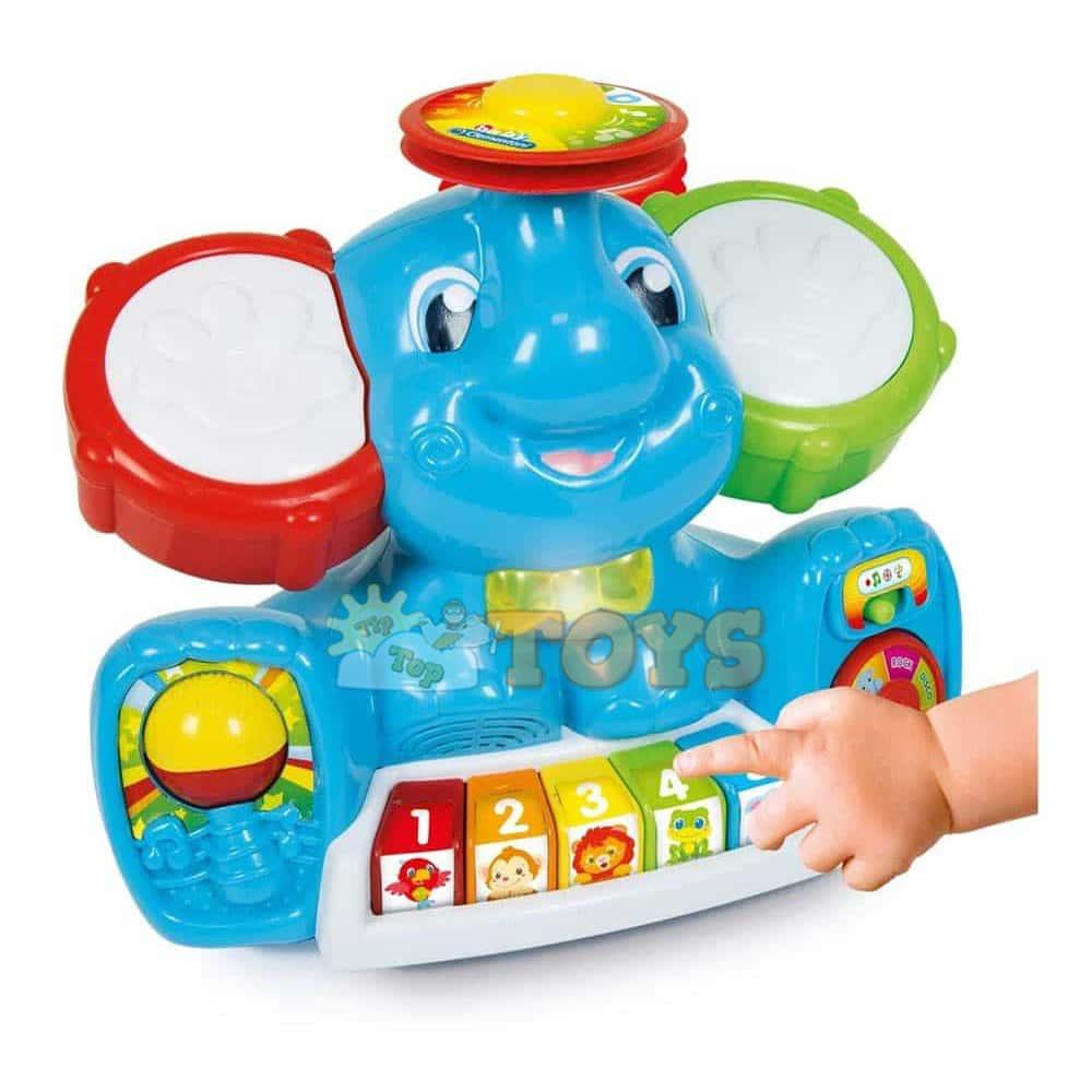 Clementoni Baby Jucărie interactivă Elefant muzical 64051 Pian bebe