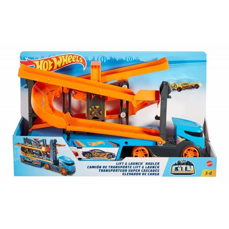 Hot Wheels Set de joacă Camion cu lift spirală GNM62 Mattel