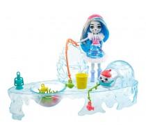 Enchantimals Set de joacă Pescuit de iarnă cu păpușă Sashay Seal GJX48