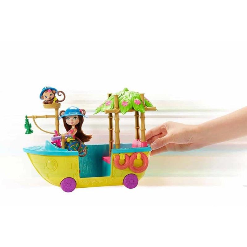 Enchantimals Set de joacă Barca tropicală Merit Monkey și Compass