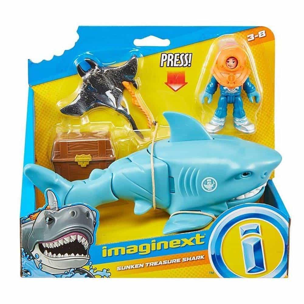 imaginext Set de joacă Cufăr cu comori rechin scafandru GKG79 Mattel