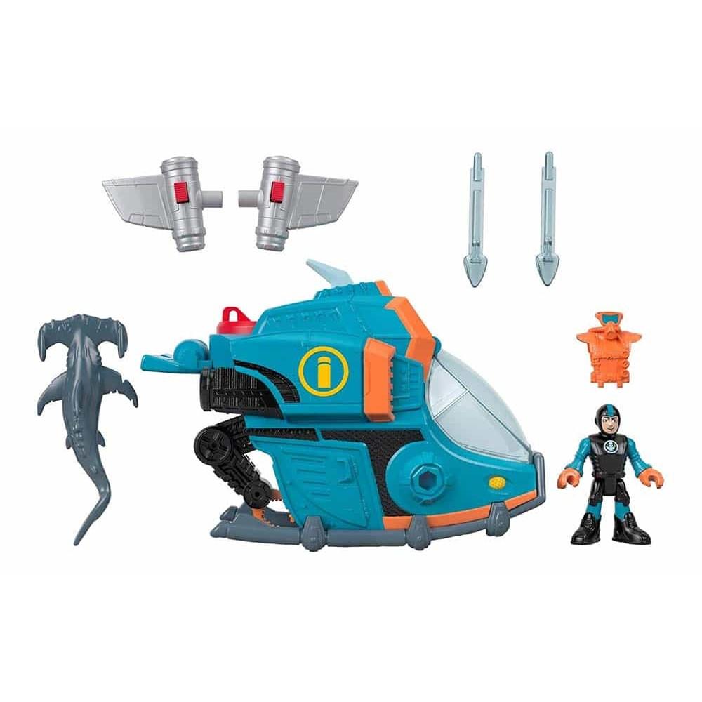 imaginext Set de joacă Sub-rechin subacvatic cu figurină GKG80 Mattel