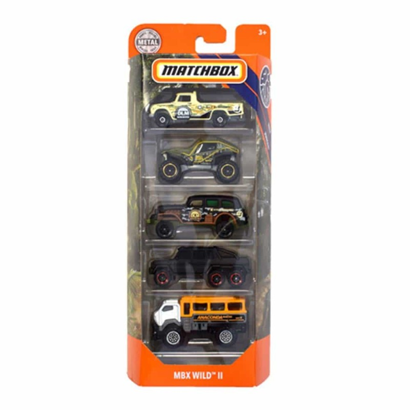 MATCHBOX Set cu 5 mașinuțe metalice Wild II GKJ10 Mattel