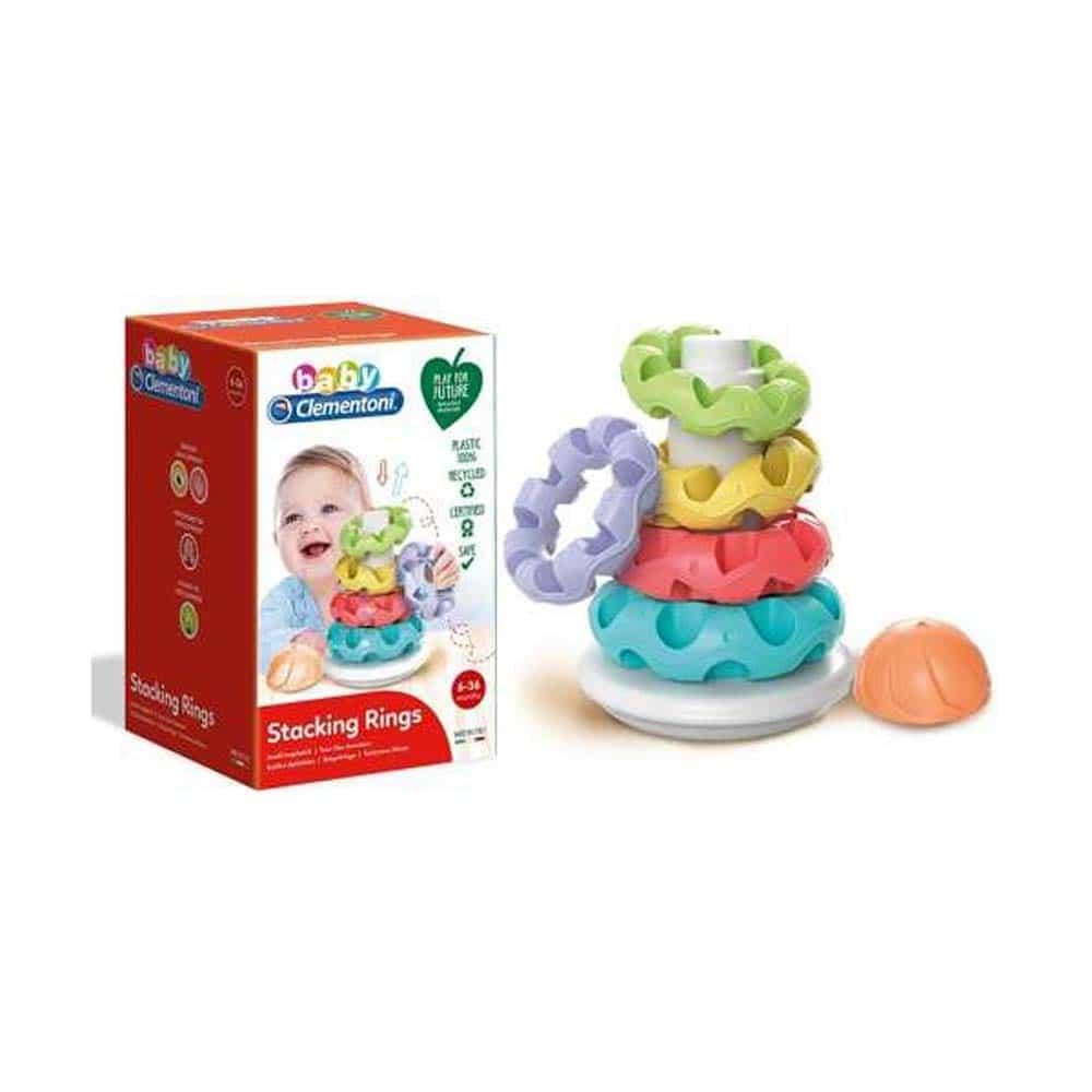 Clementoni Baby Jucărie de stivuit inele 17103 Piramidă inele creativă