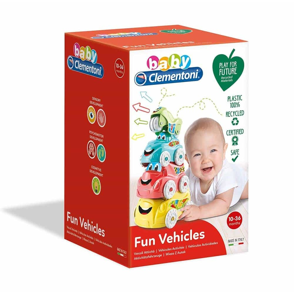 Clementoni Baby Turnul AUTEK Jucărie mașini haioase Fun Vehicles
