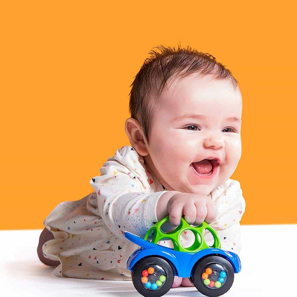 Oball Rattle & Roll Prima mașinuță a bebelușului 81559 Albastru