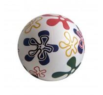 Minge cauciuc pentru copii model Flori multicolor 22cm gonflabilă