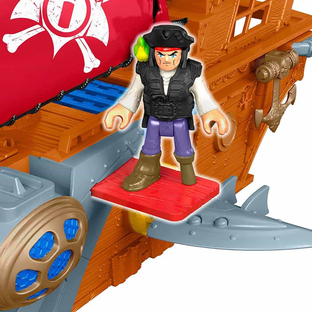 imaginext Navă pirat Shark Bite Pirate Ship DHH61 cu figurine Mattel