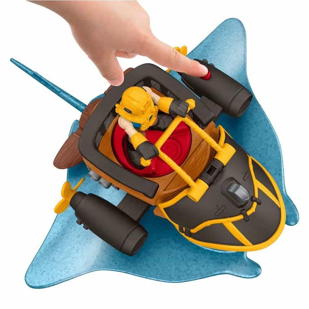 imaginext Căpitnul Nemo și peștele de luptă raia cu figurină DTH43