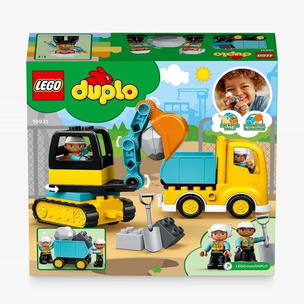 LEGO® DUPLO Camion și excavator pe senile 10931 - 20 piese