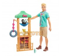 Set de joacă Barbie Ken You Can Be Anything Wildlife Vet GJM33 Mattel