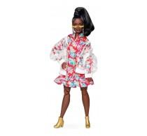 Păpușă Barbie Signature BMR1959 în haine de ploaie păr negru GHT94